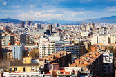 Top kind of Barcelona from Montjuic — Stock Photo