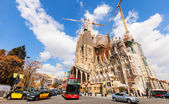 View of Sagrada Familia. Barcelona, Catalonia — Stock Photo