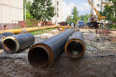Repair of urban water and sanitation systems — Stock Photo