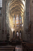 Interior of Saint Vitus Cathedral in Prague — Stock Photo