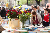 Sant Jordi feast celebrated in Barcelona — Stock Photo
