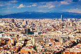 Top view of Barcelona from Montjuic — Stock Photo