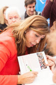 Alicia Sanchez-Camacho giving autograph — Stock Photo