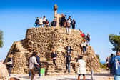Calvary in Park Guell. Barcelona, Spain — Stockfoto