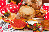 Traditional russian pancake — Stock Photo
