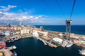 View of Port Vell from high point. Barcelona — Stock Photo