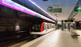 Metro station Badalona Pompeu Fabra — Stock Photo