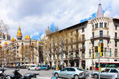 Barcelona, Spain. Passeig de Gracia — Stock Photo