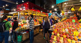 La Boqueria market. Barcelona, Spain — Stock Photo