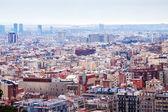 Widok na Barcelonę z punkt kulminacyjny — Zdjęcie stockowe