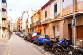 Rafael de Casanova street in Badalona. Barcelona — Stock Photo