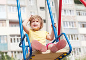 2 years child on swing — Stock Photo