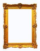 Luxury gilded frame. Isolated over white background — Stock Photo