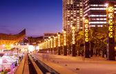 Port Olimpic - center of nightlife at Barcelona — Stock Photo