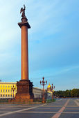 View of St. Petersburg. The Alexander Column — Stock Photo