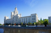 View of Moscow with Kotelnicheskaya Embankment Building — Stock Photo