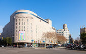 View of Barcelona, La Corte Ingles — Stock Photo