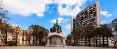 巴塞罗那,西班牙的视图。得土安广场 — 图库照片