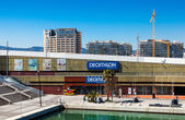 Decathlon in Port Olimpic. Barcelona, Spain — Stock Photo