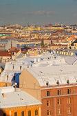Top view of european city — Stock Photo