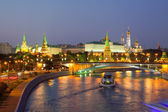 Moscow Kremlin in dusk — Stock Photo