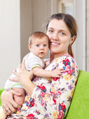 Portrait of happy mother with baby — Stock Photo
