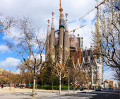 Basilica and Expiatory Church of the Holy Family (Sagrada Familia) — Stock Photo