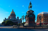 Monument to Nicholas I in Saint Petersburg, Russia — Stock Photo