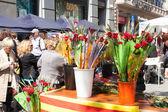 Kytice z růží a žita v sant jordi — Stock fotografie