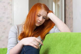 Ragazza adolescente di tristezza — Foto Stock