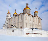 Uspenskiy cathedral at Vladimir in winter, Russia — Stockfoto