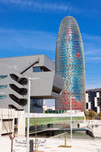 Torre agbar in Barcelona, Spain — Stock Photo