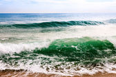 Sea wave in windy day — Stock Photo