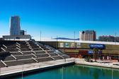 Decathlon in Port Olimpic. Barcelona, Spain — Stock Photo
