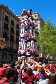 Performers from Spain stack themselves up — Stock Photo