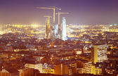 Night view of Barcelona, Spain — Stock Photo