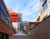Yard of house in Badalona — Stock Photo