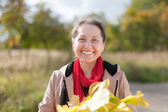 Happy mature woman — Stock Photo