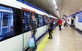 Interior of metro station Tribunal, Madrid — Stock Photo