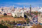Barcelona city from Montjuic — Stock Photo