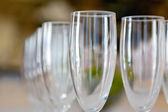 Wineglasses in rows — Stock Photo