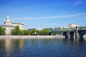 View of Moscow. Andreyevsky Bridge — Stock Photo