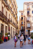 View of Barcelona - Barrio Gotico. Spain — Stock Photo