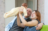 Parents with newborn baby — Stock fotografie