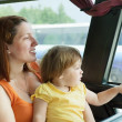 Traveling family — Stock Photo