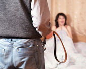 Couple having quarrel about adultery — Stock Photo