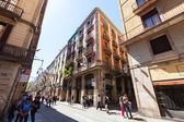 Picturesque streets of Gothic district. Barcelona — Stock Photo