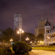 Stock Photo: Night view of Spain Square - Madrid, Spain