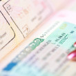 Stock Photo: Close up of Schengen visa