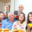 Portrait of happy multigeneration family — Stock Photo
